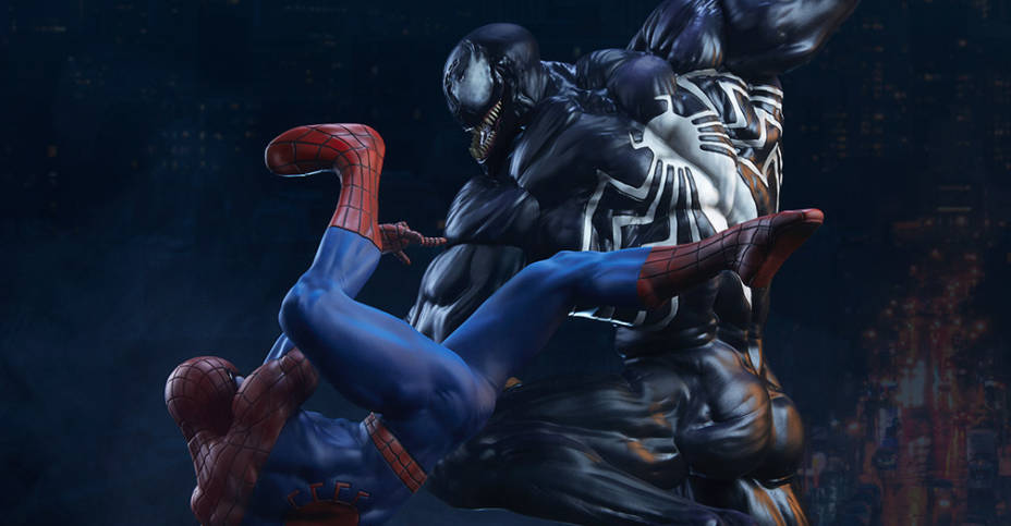 Spider Man vs Venom Maquette 021