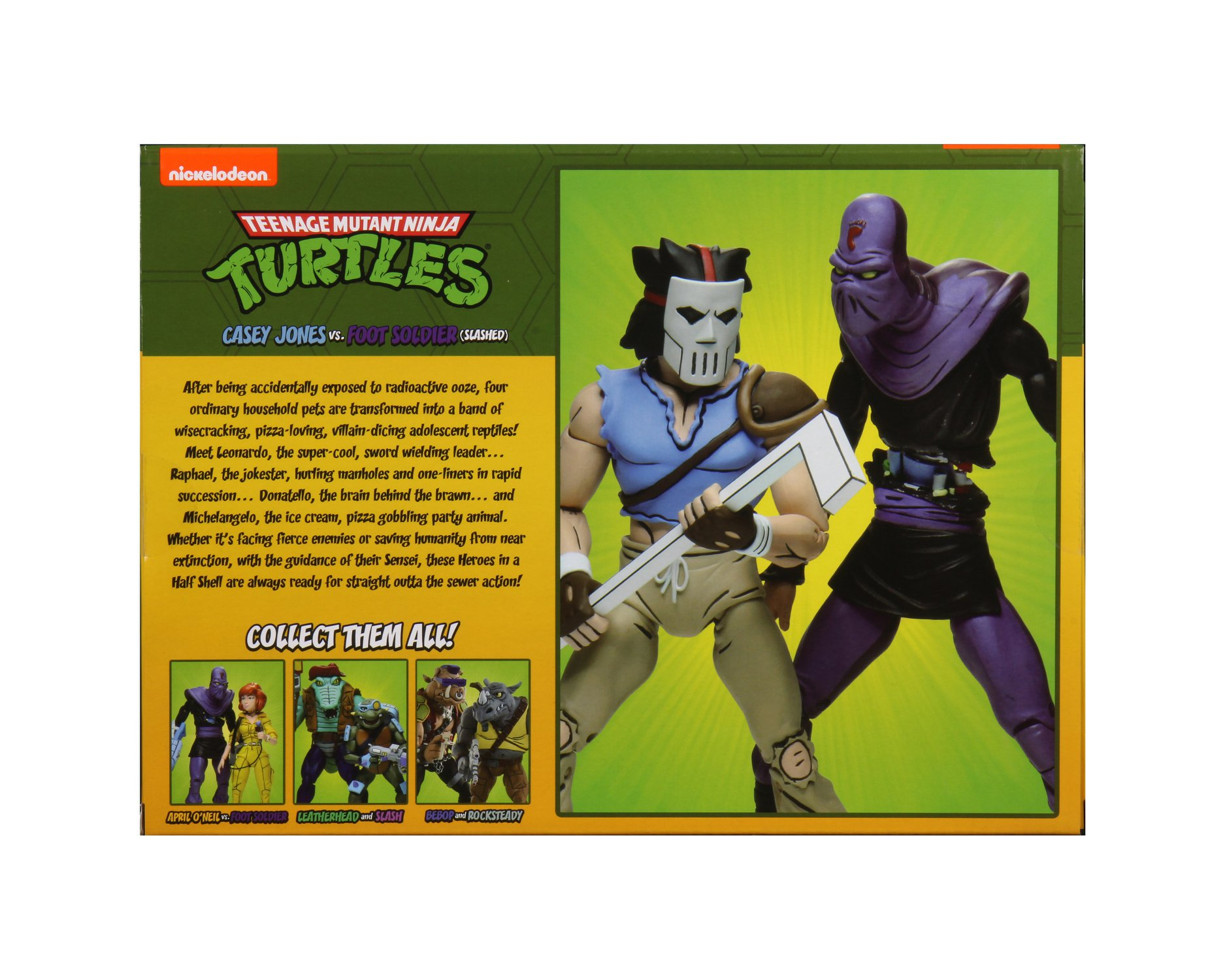 CASEY JONES FOOT SOLDIER Cartoon 2-Pack Teenage Ninja Turtles TMNT figurine Neca