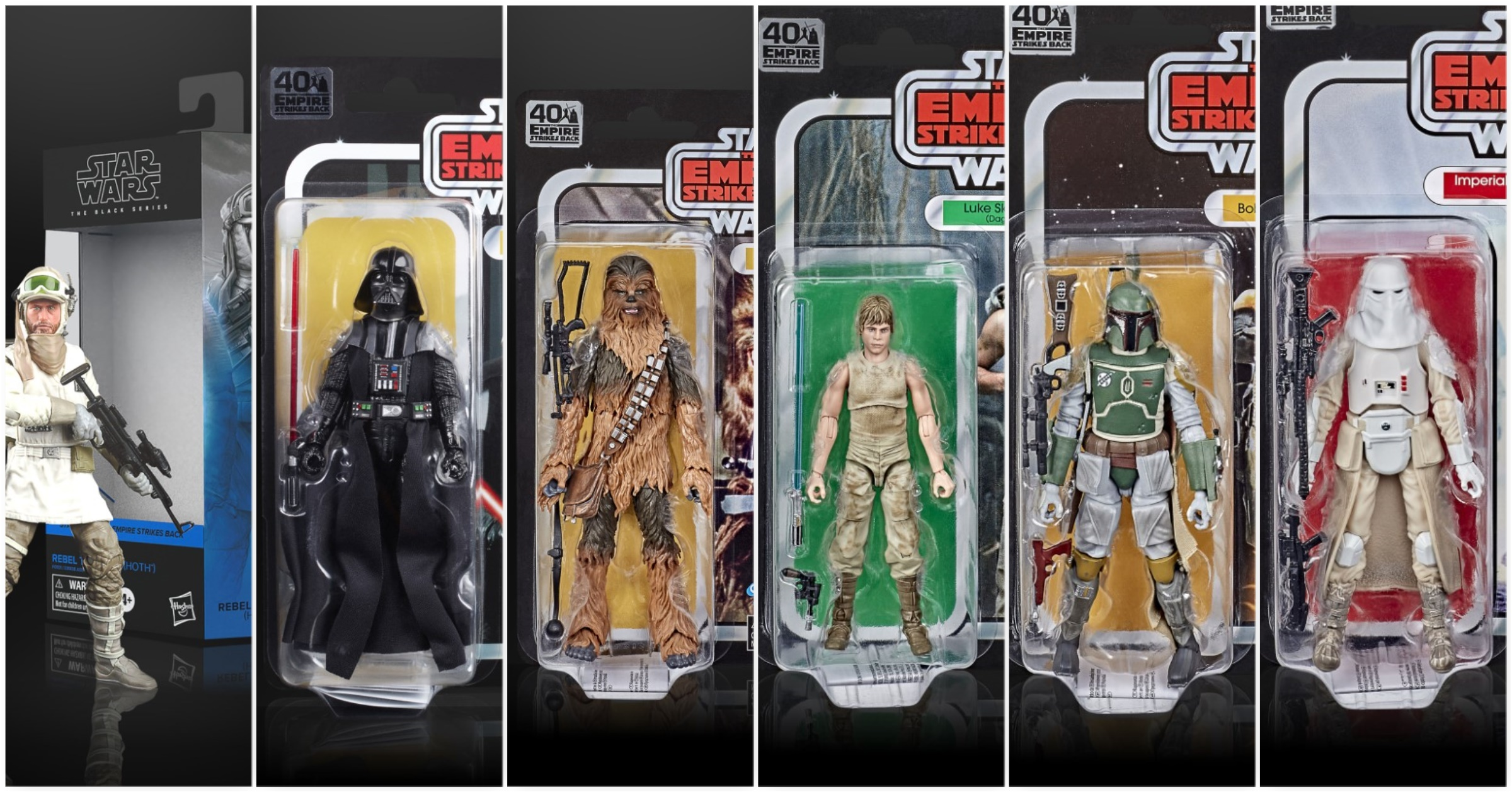"Hasbro Star Wars The Empire Strikes Back Retro Collection 3.75/"" Action Figures"
