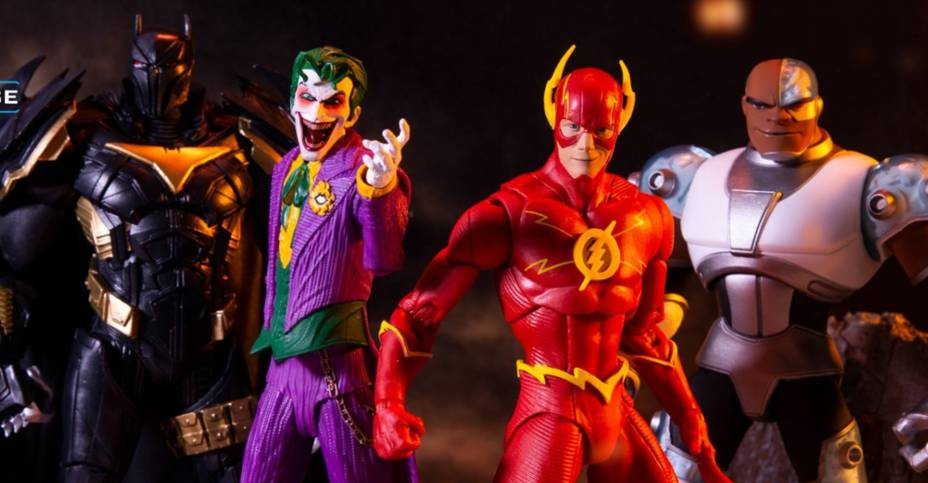 DC Multiverse Flash Azrael Joker and Cyborg