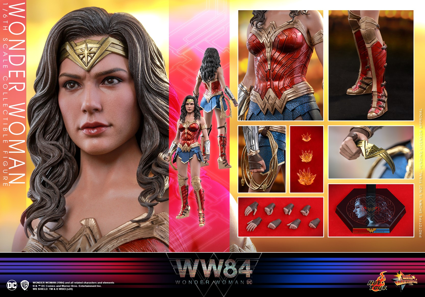 WW ~ WW84 WONDER WOMAN 1984 DC COMICS RED GOLD HERO BOOTS DOLL ACCESSORY SHOES