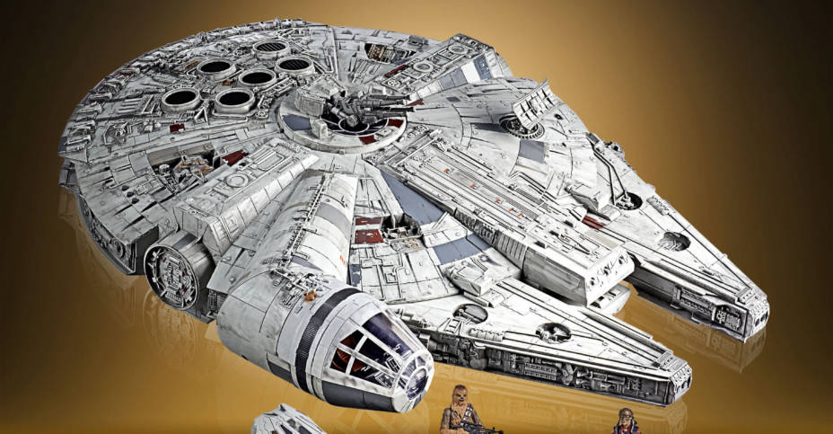 STAR WARS THE VINTAGE COLLECTION GALAXY'S EDGE MILLENNIUM FALCON SMUGGLER'S RUN Vehicle oop 2