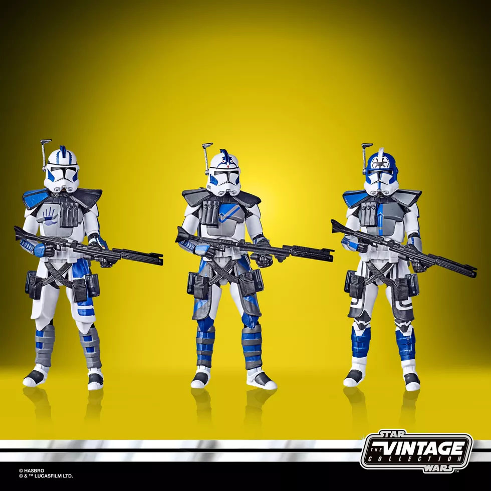 2020 PulseCon SDCC Star Wars Clone Wars 501st Legion ARC Troopers 3 Pack MOC
