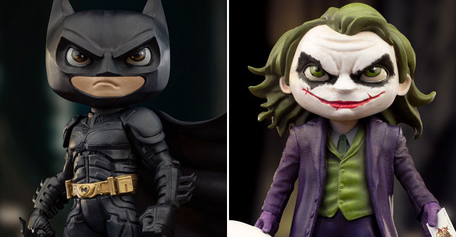 The Dark Knight Minico Statues