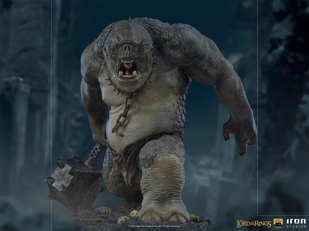 IRON STUDIOS : The Lord of the Rings - Cave Troll 1/10 Scale Battle Diorama Series Statue Iron-Studios-Cave-Troll-Statue-001