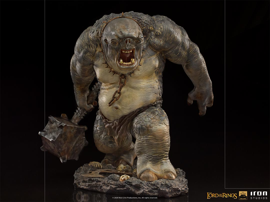 IRON STUDIOS : The Lord of the Rings - Cave Troll 1/10 Scale Battle Diorama Series Statue Iron-Studios-Cave-Troll-Statue-005