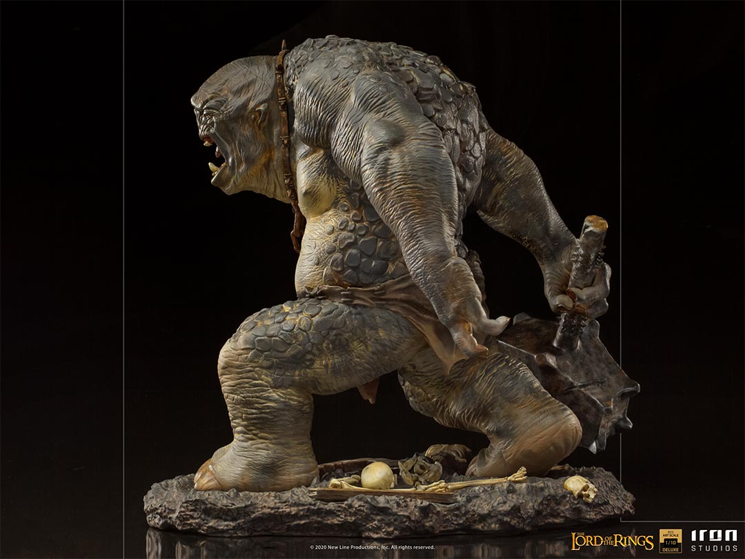 IRON STUDIOS : The Lord of the Rings - Cave Troll 1/10 Scale Battle Diorama Series Statue Iron-Studios-Cave-Troll-Statue-006