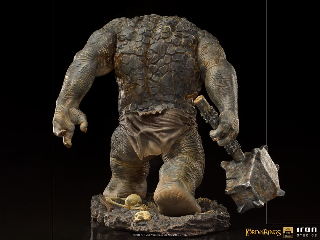 IRON STUDIOS : The Lord of the Rings - Cave Troll 1/10 Scale Battle Diorama Series Statue Iron-Studios-Cave-Troll-Statue-007
