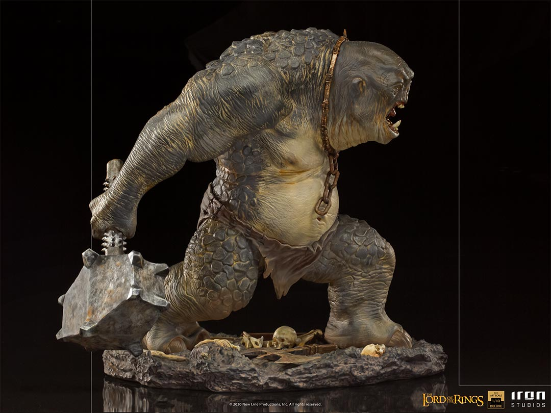 IRON STUDIOS : The Lord of the Rings - Cave Troll 1/10 Scale Battle Diorama Series Statue Iron-Studios-Cave-Troll-Statue-008