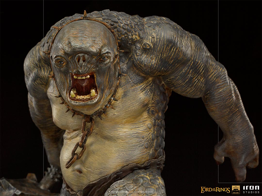 IRON STUDIOS : The Lord of the Rings - Cave Troll 1/10 Scale Battle Diorama Series Statue Iron-Studios-Cave-Troll-Statue-009