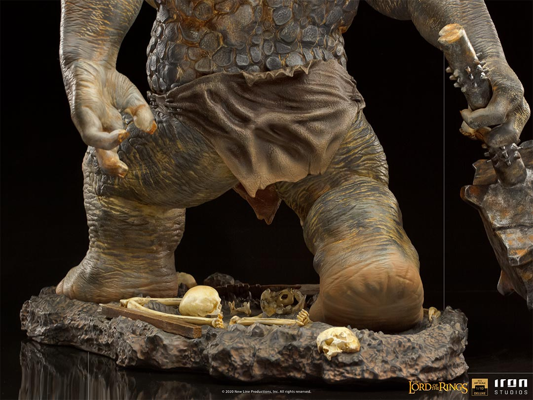 IRON STUDIOS : The Lord of the Rings - Cave Troll 1/10 Scale Battle Diorama Series Statue Iron-Studios-Cave-Troll-Statue-011