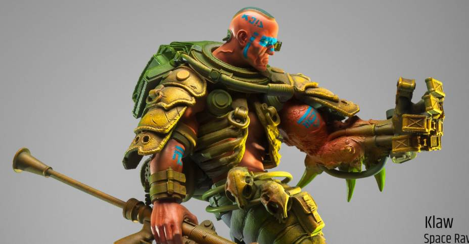 Klaw the space ravager House of Gog The Art of Pascal Blanché original art statue KLAW 063