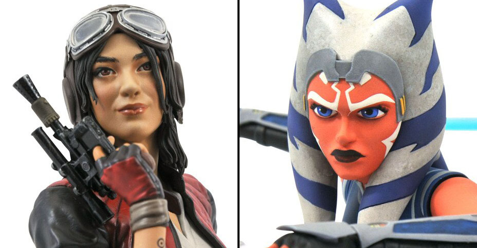 Star Wars Ahsoka and Aphra Busts