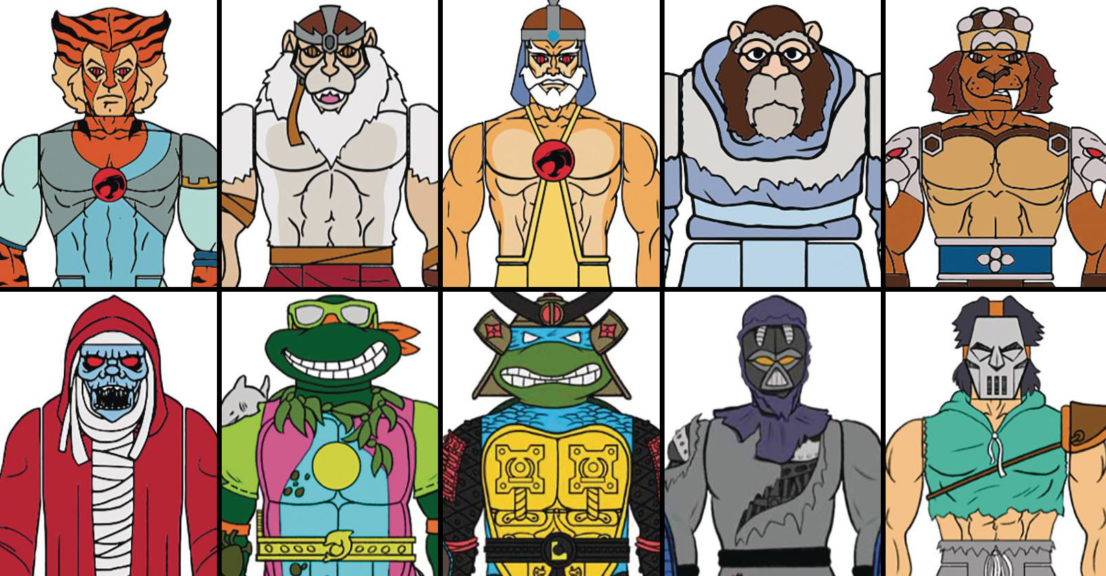 Z Super7 TMNT and Thundercats ReAction