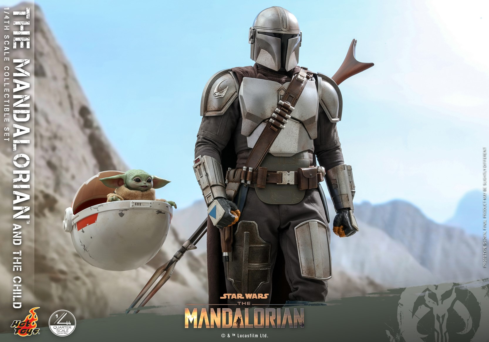Hot Toys Mandalorian and The Child Quarter Scale Set 002