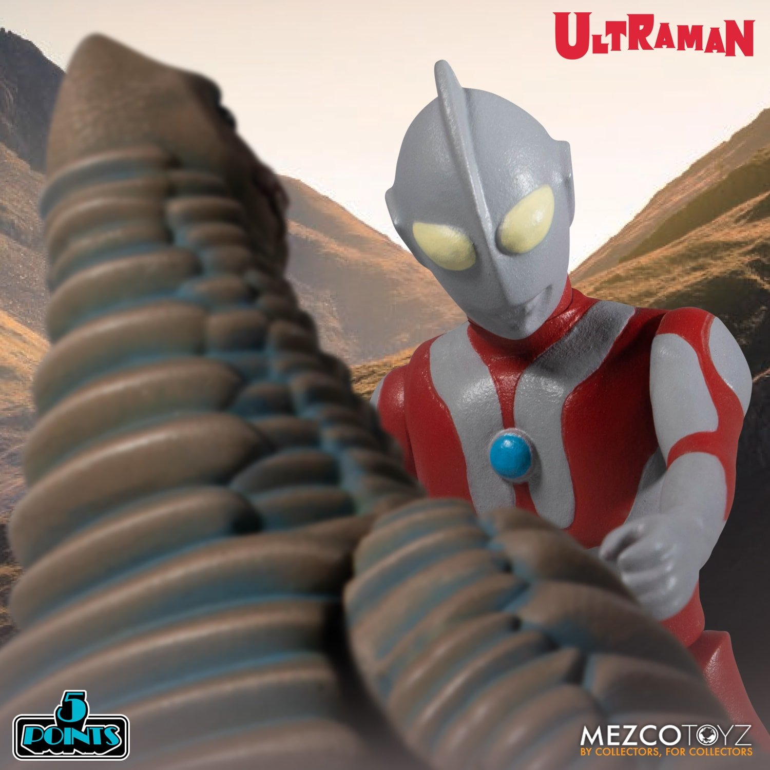 Mezco 5 Points Ultraman and Red King 005