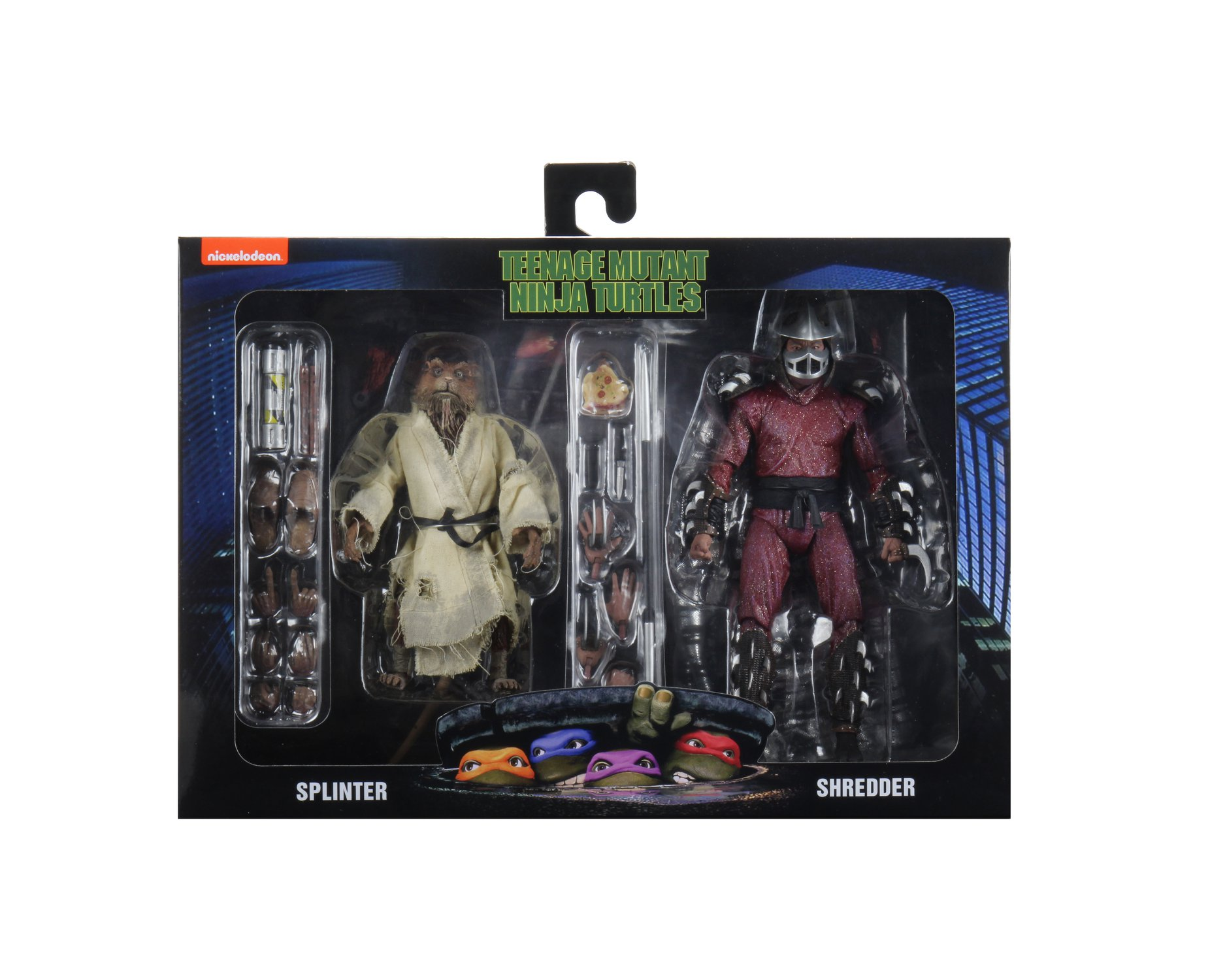 NECA Splinter and Shredder TMNT Movie 2 Pack 001
