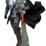 STAR WARS MILESTONES MANDALORIAN CHILD STATUE 1