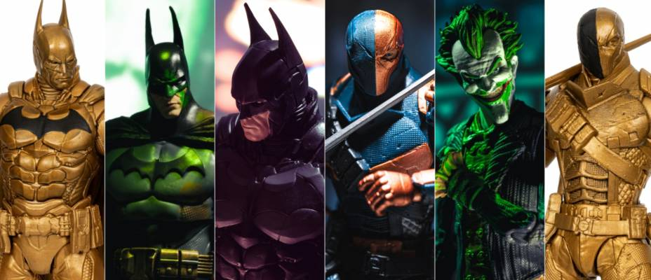 DC Multiverse Arkham Mega Gallery - Arkham Knight Batman, Origins Deathstroke, Chase Figures and More!