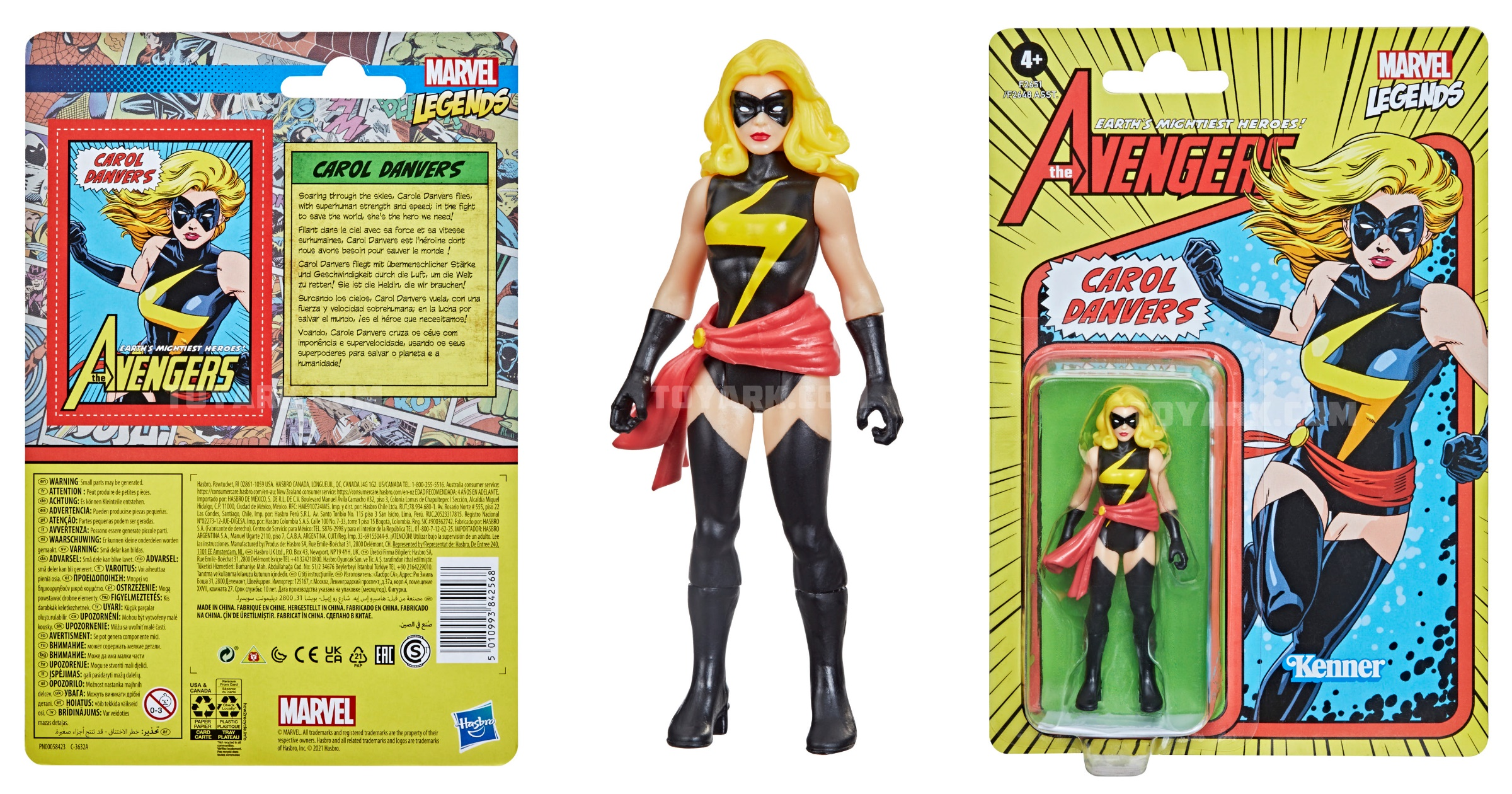 Marvel Legends Retro 375 Captain Marvel Carol Danvers