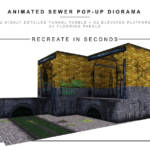 Extreme Sets Animated Sewer Pop Up Diorama 1 12