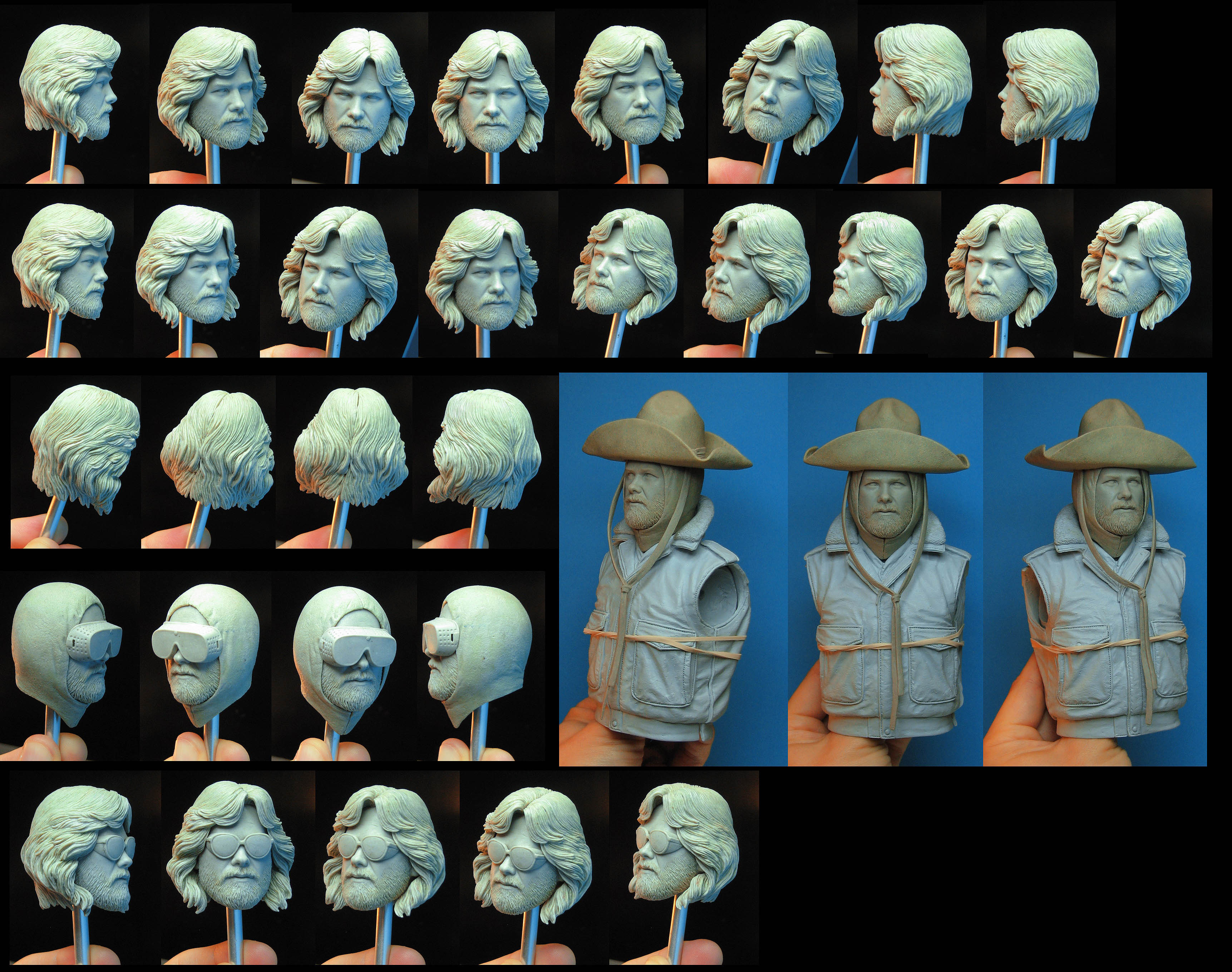 NECA The Thing MacReady Preview Head Sculpts