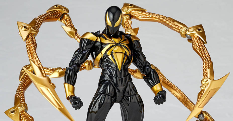 Revoltech Black and Gold Iron Spider 001