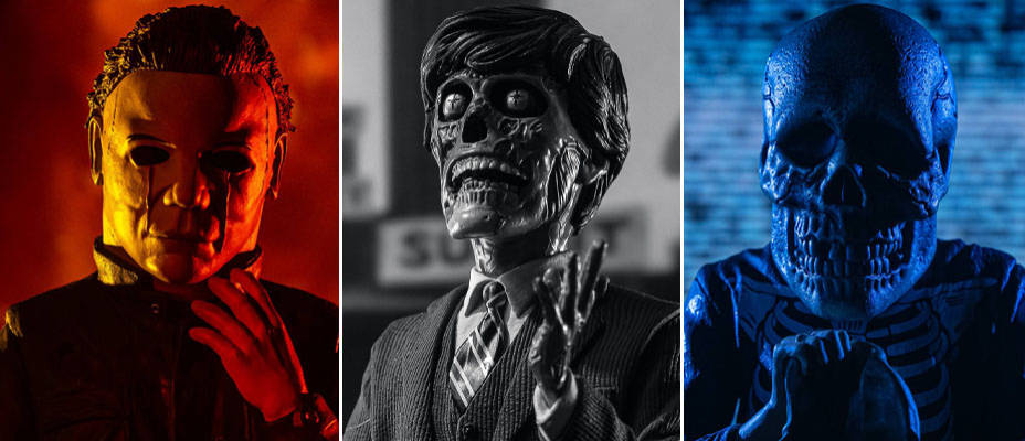 Halloween 2, Halloween 3, and They Live Spinatures by Waxwork Records - Toyark Photo Shoot