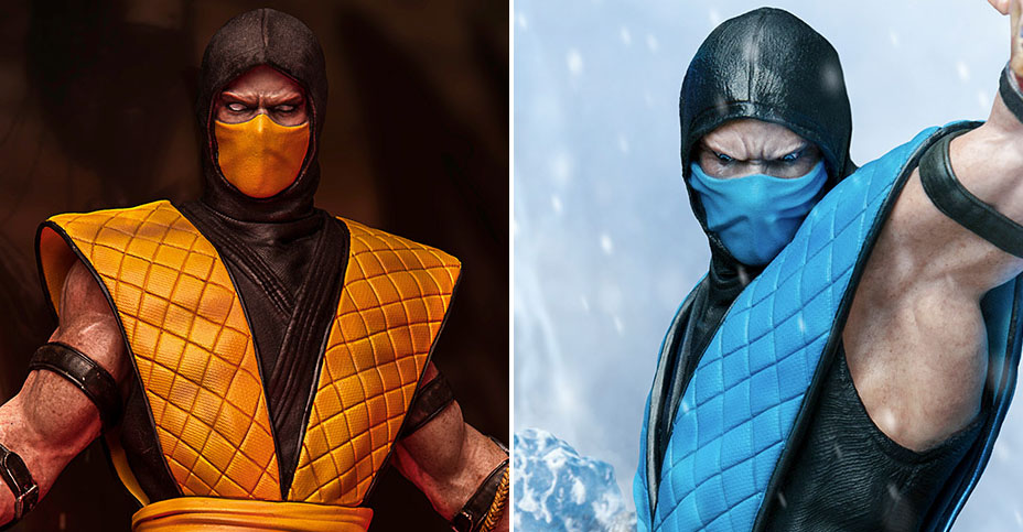 z MK Sub Zero and Scorpion Iron Studios