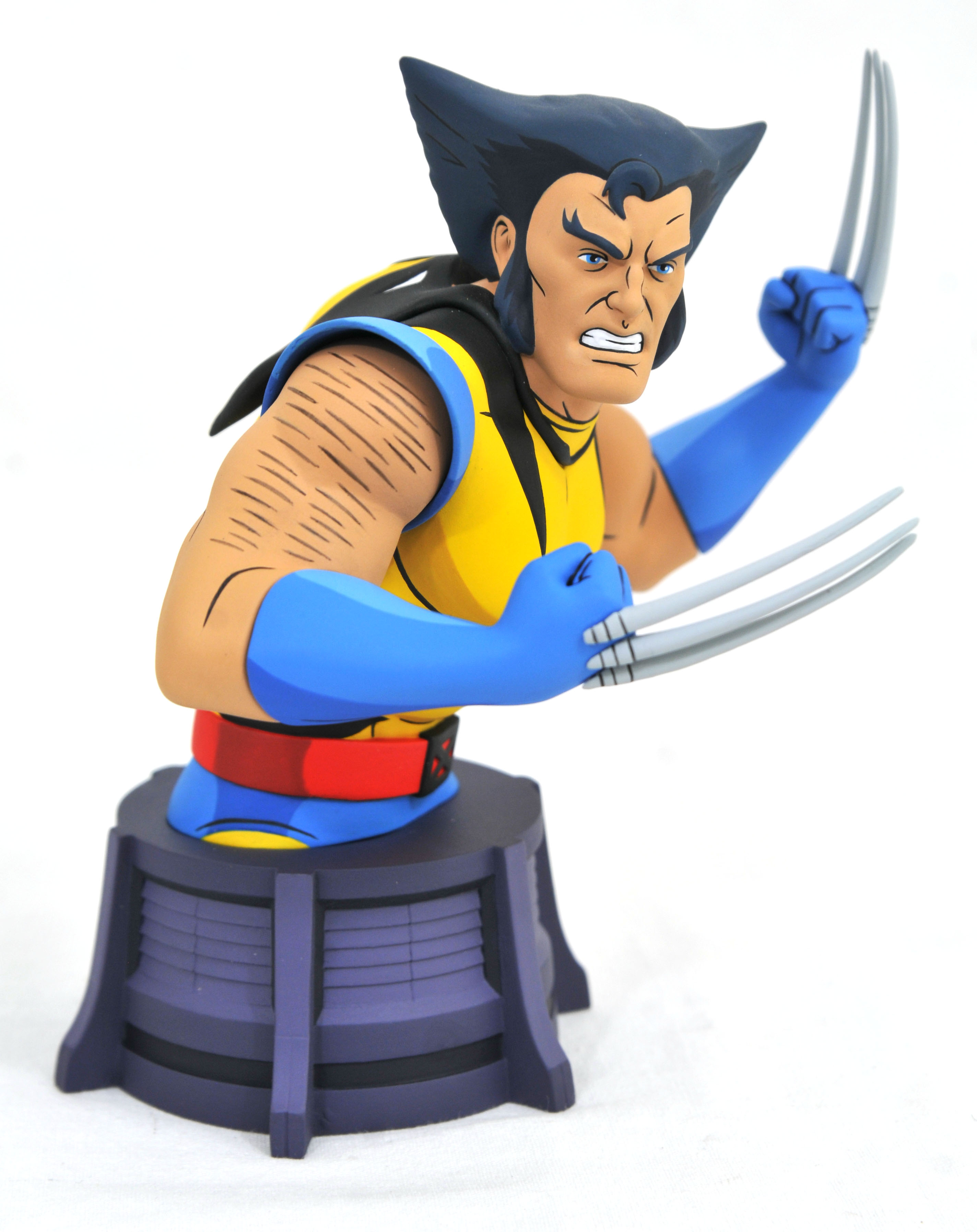 DST Animated Unmasked Wolverine Bust 005