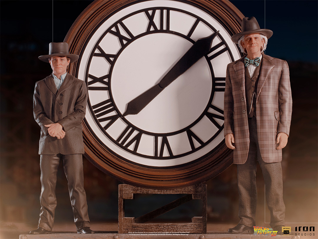 Marty and Doc at the Clock IS 12