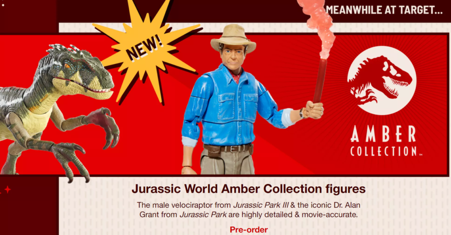 Jurassic world amber collection target exclusive